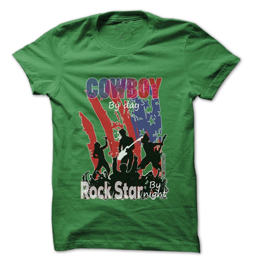 Cowboy Rock... Rock Time ... Cool Job Shirt !