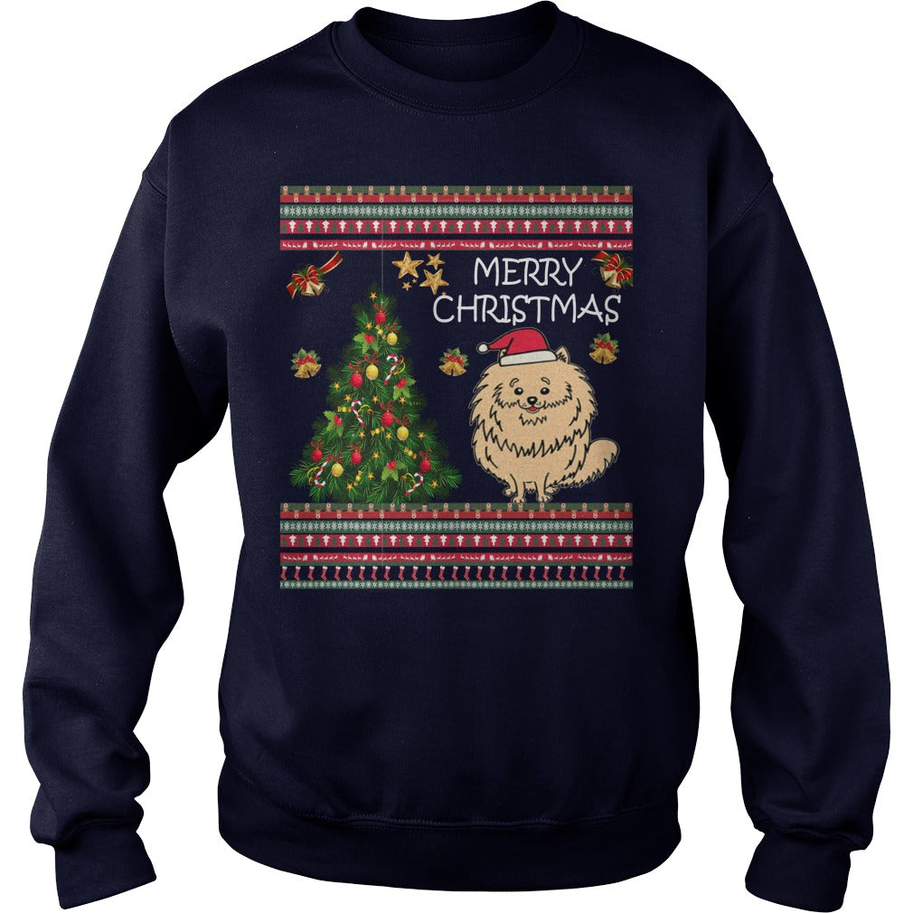 Pomeranian Ugly Christmas Sweater. Pomeranian Christmas Jumper.