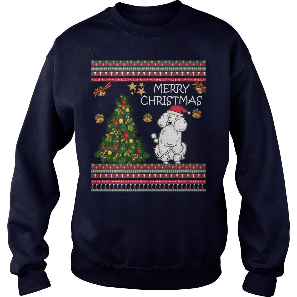 Poodle Christmas Jumper. Poodle Ugly Christmas Sweater.