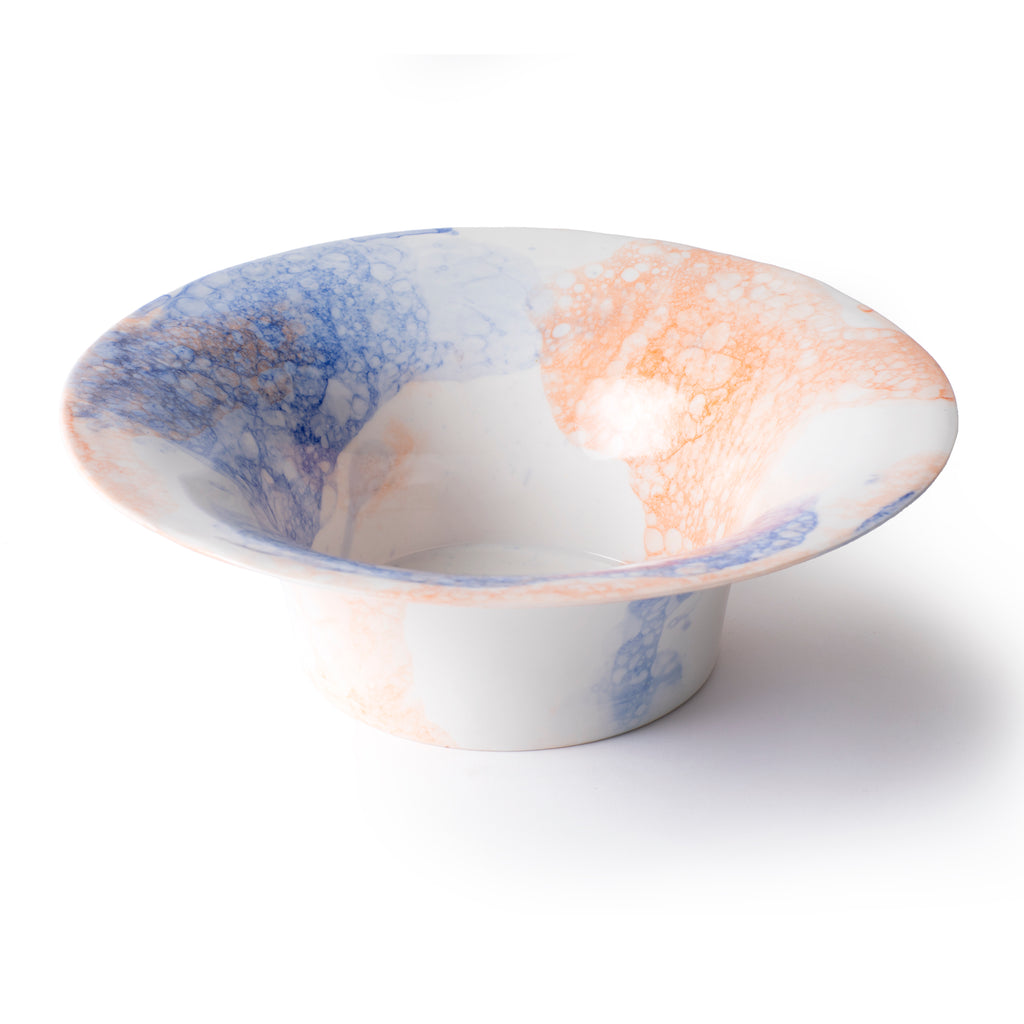 Bubble - Large Collector Bowl - Orange & blue