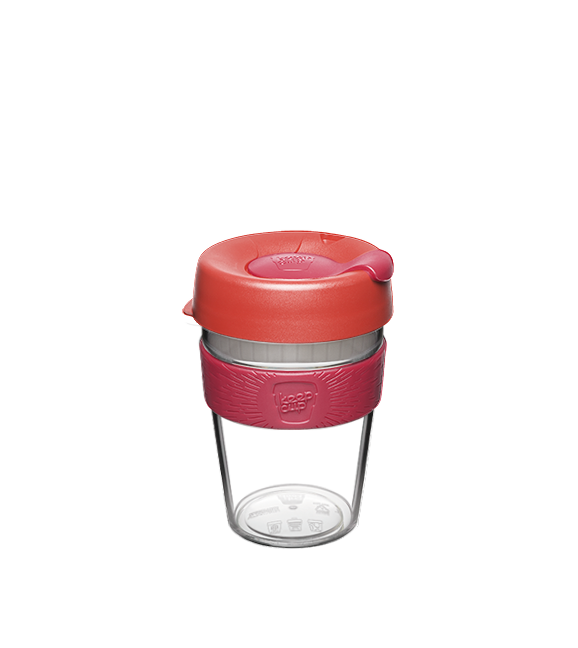 KeepCup Original Clear - Tomato - Medium 12oz / 340ml