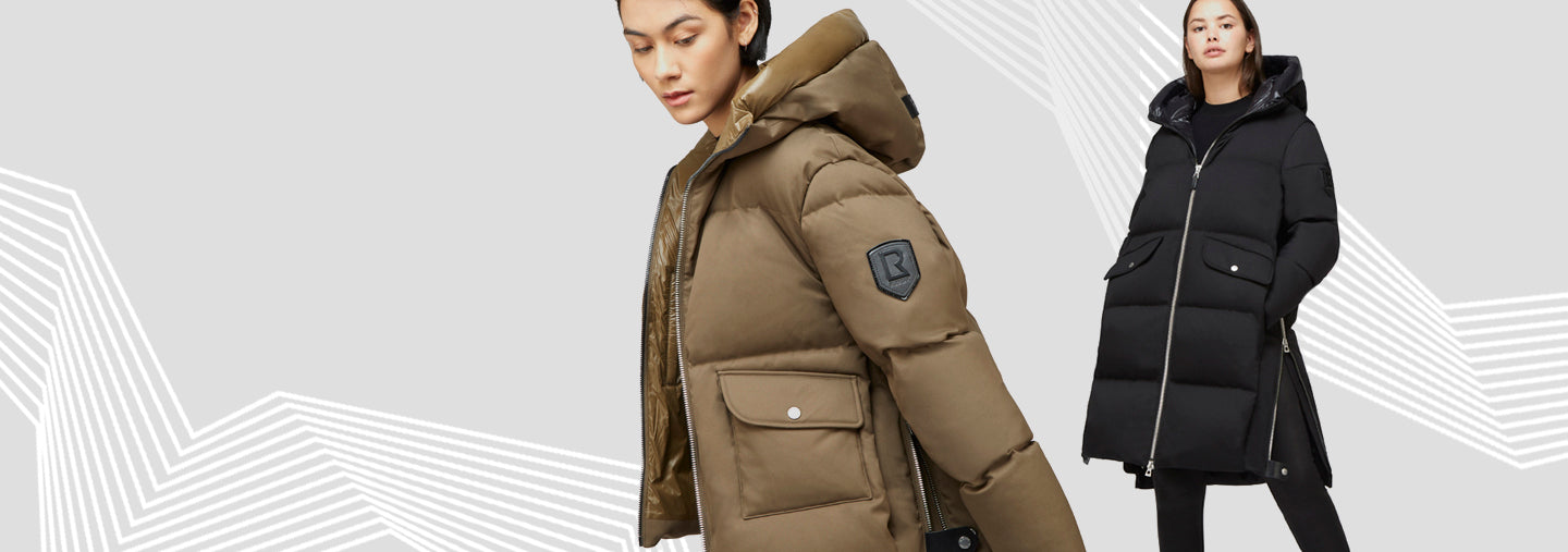 Proudly designed in Canada since 1994, our exclusive outerwear is expertly crafted to keep you warm while elevating your personal style.