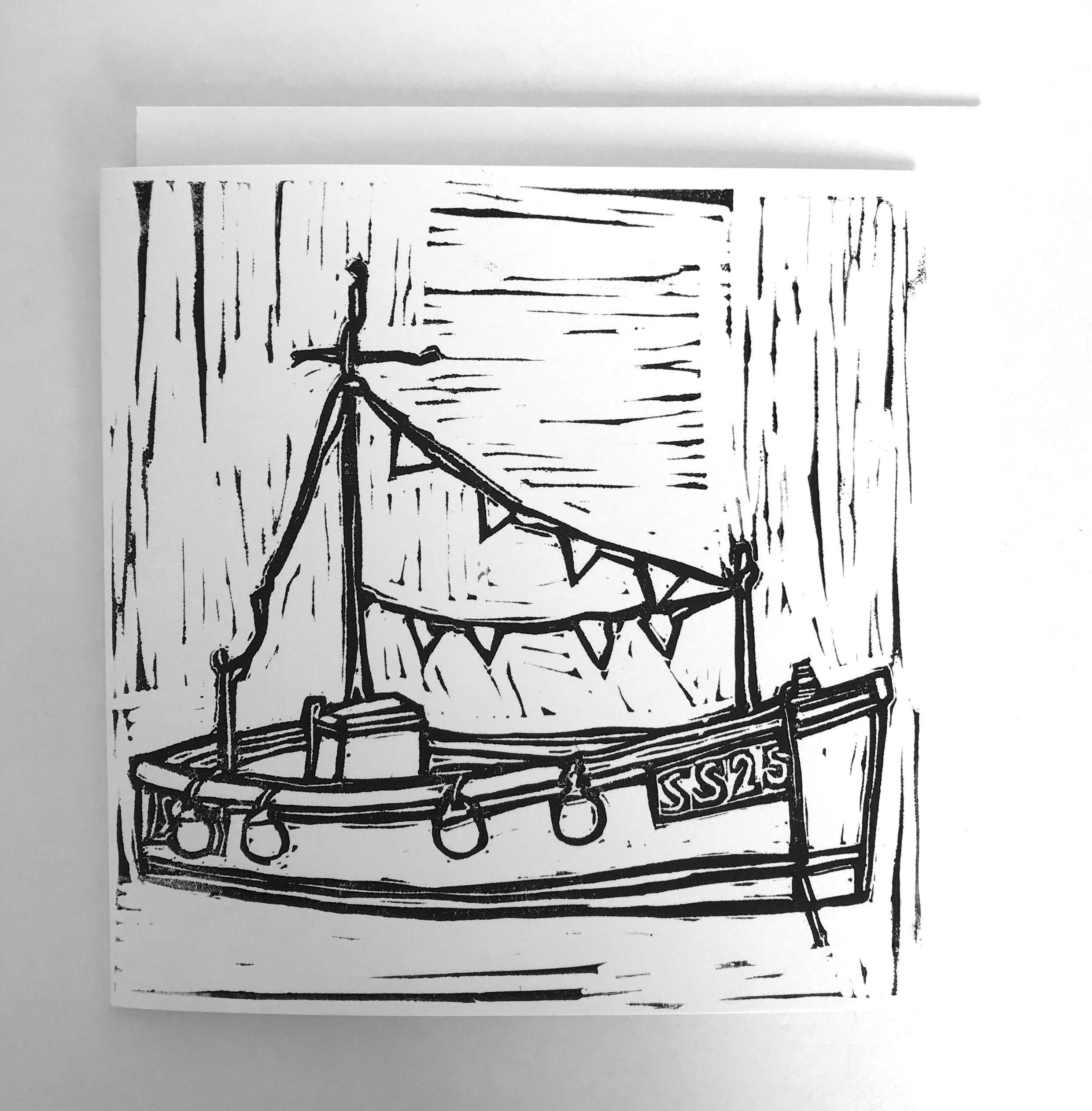 'PARTY BOAT' GREETING CARD