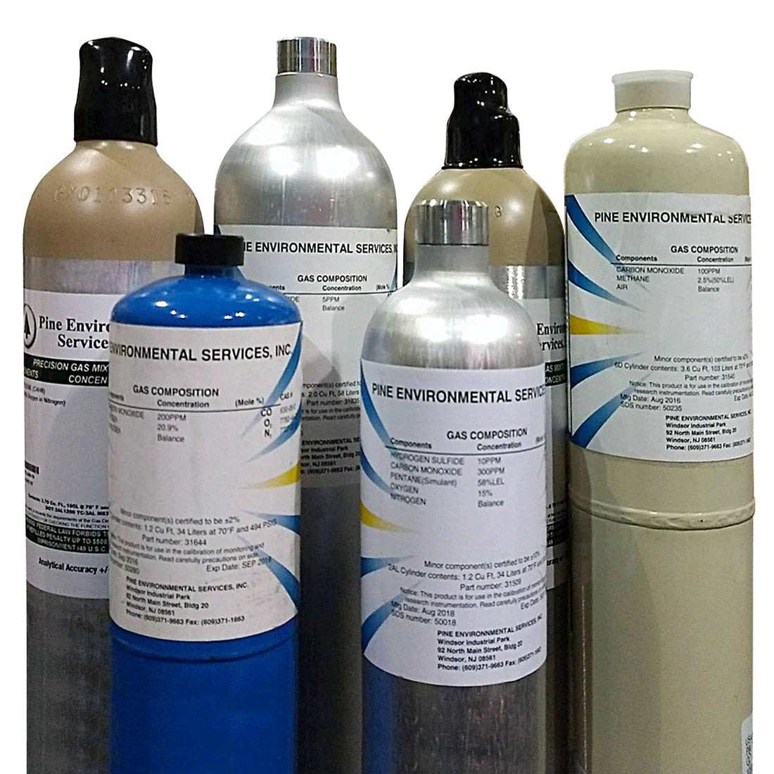 Calibration Gas - MultiGas Mix - 50 ppm CO, 2.5% CH4, 21% O2/N2 - 103DS