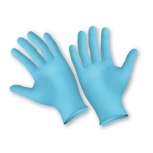 Blue Nitrile Disposable Gloves, Powder-Free Textured, 4 mil Latex-Free, Medium