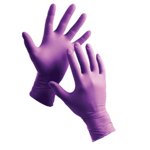 Purple Nitrile Disposable Gloves, Powder-Free Textured, 6 mil Latex-Free, Medium