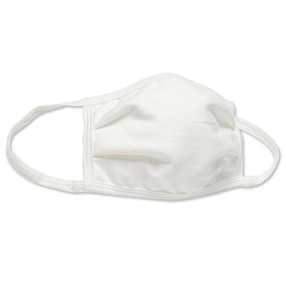 Reusable Cloth Face Mask with Earloops, Universal Mask Size, White, 5-Pack