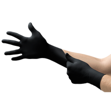 Load image into Gallery viewer, Black Nitrile Disposable Gloves, Powder-Free, 4.70 mil, Large