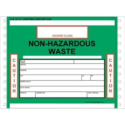 Non-Hazardous Waste Label - GWM7