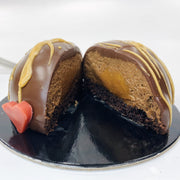 Chocolate Peanut Butter & Caramel Bombe