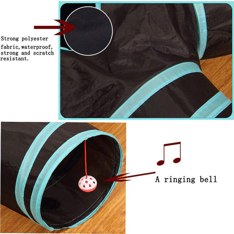 Foldable Cat Cave Tunnel