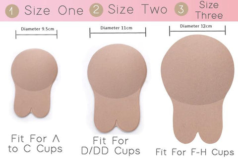 Bunny bra lift up adhesive strepless sizes