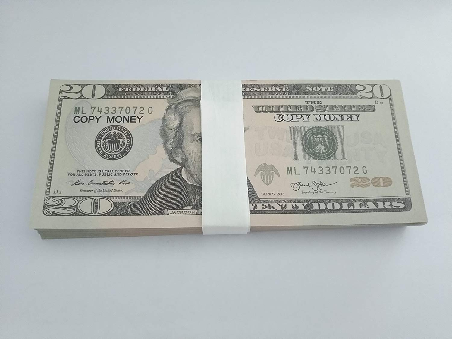 New Style $20s Full Print Prop Money $4,000 Package