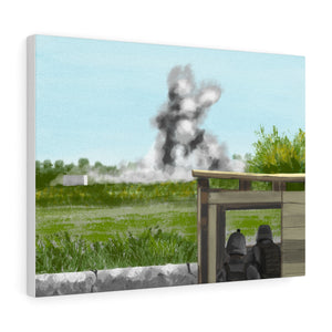 """Another Day in Helmand"" Stretched Canvas"