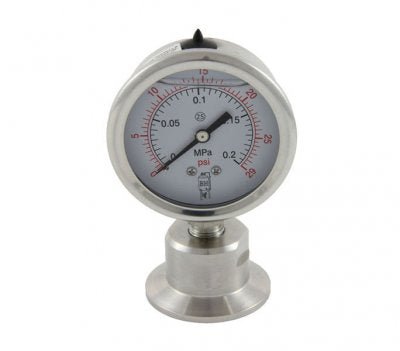 30psi Tri-Clamp Pressure Gauge