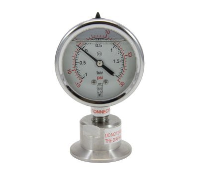15psi Tri-Clamp Pressure Gauge
