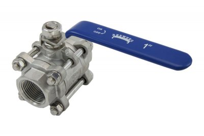 "1"" Full Port 3-Piece Ball Valve"