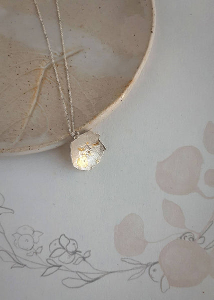 Rose Necklace made from a pressed flower