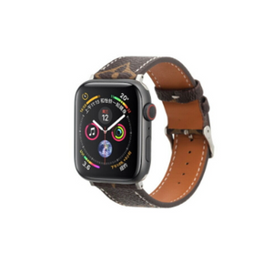 LV Monogram Brown Apple Watch Band