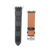 LV Checkered Damier Black Apple Watch Band