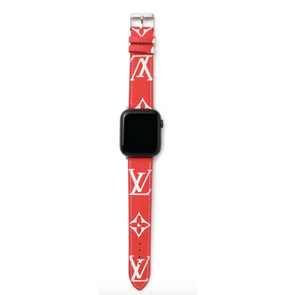 LV x Supreme Red Apple Watch Band