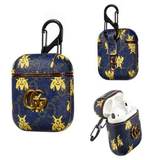 Gucci GG Style Dark Blue Butterfly ShockProof Case for Apple Airpods 1 & 2s
