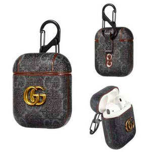Gucci GG Style Black ShockProof Case for Apple Airpods 1 & 2