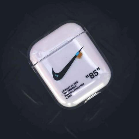 Nike Off-White Style Silicone ShockProof Case for Apple Airpods 1 & 2
