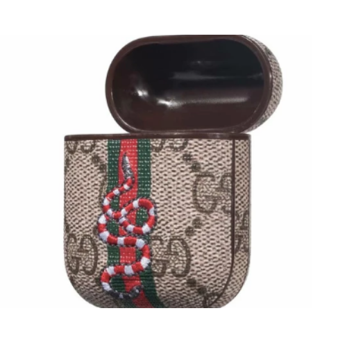 Gucci GG Style Snake Shockproof Case for Apple Airpods 1 & 2