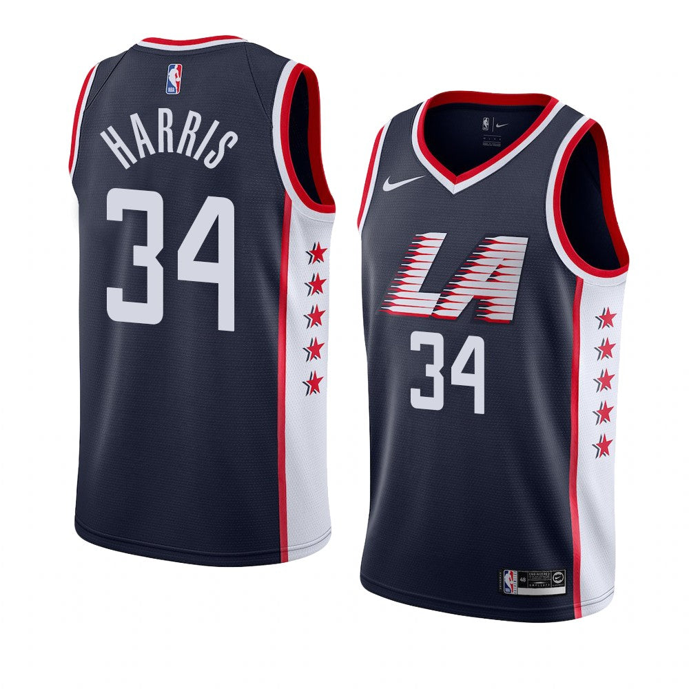 low priced e022a 448a6 LA Clippers Navy Los Angeles Clippers #34 Tobias Harris Swingman City  Edition New Season Jersey
