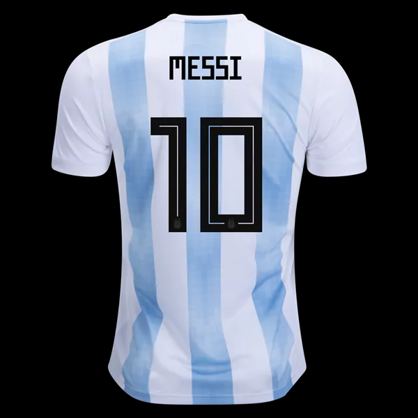 huge selection of 80aa5 03d75 Messi#10 Argentina 2018 World Cup Home