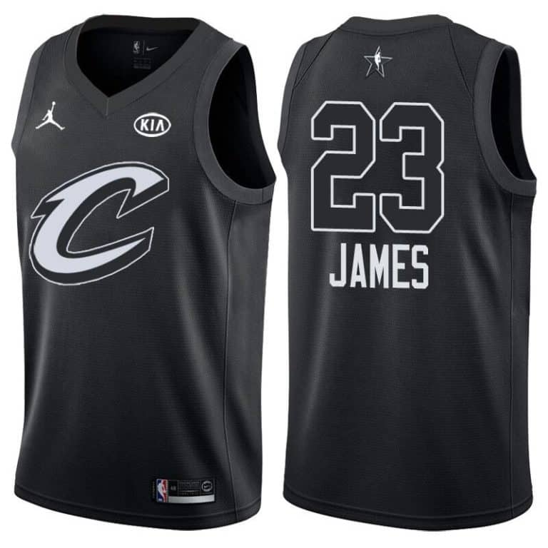 best website c0cf4 d2ae8 Cleveland Cavaliers LeBron James All-Star 2018 Black Jersey