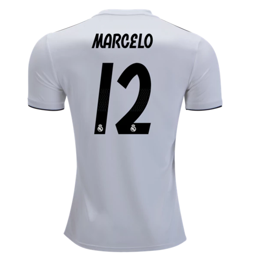 buy online 4cc66 1146f MARCELO #12 Real Madrid 18/19 Home Kit