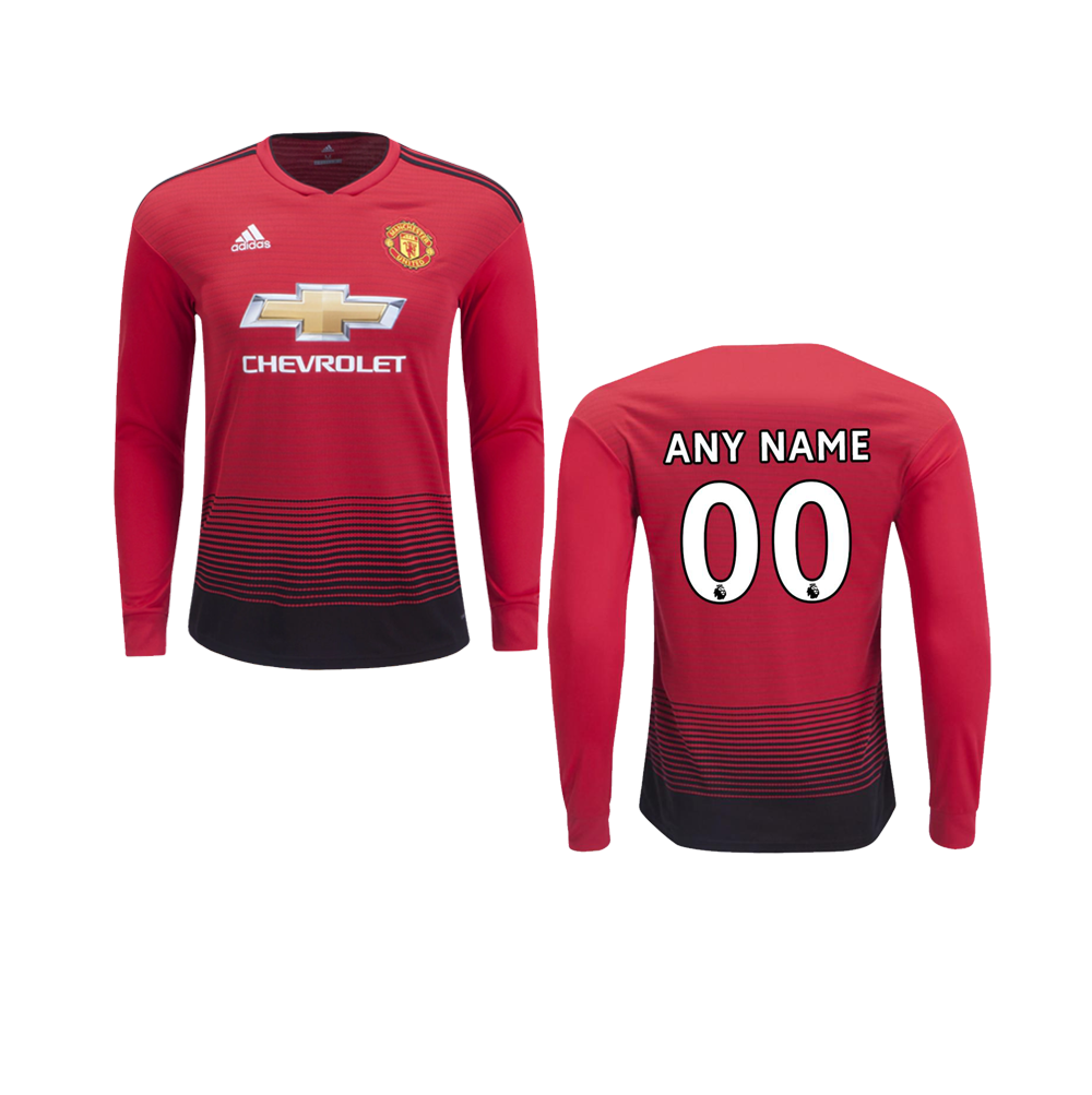 low priced 47ad4 8d363 Manchester United 18/19 Home Full Sleeve