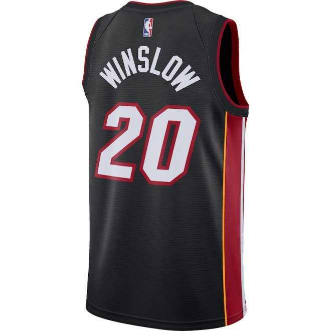 big sale 8eb88 67847 Miami Heat Justise Winslow Black Swingman Jersey – Icon Edition