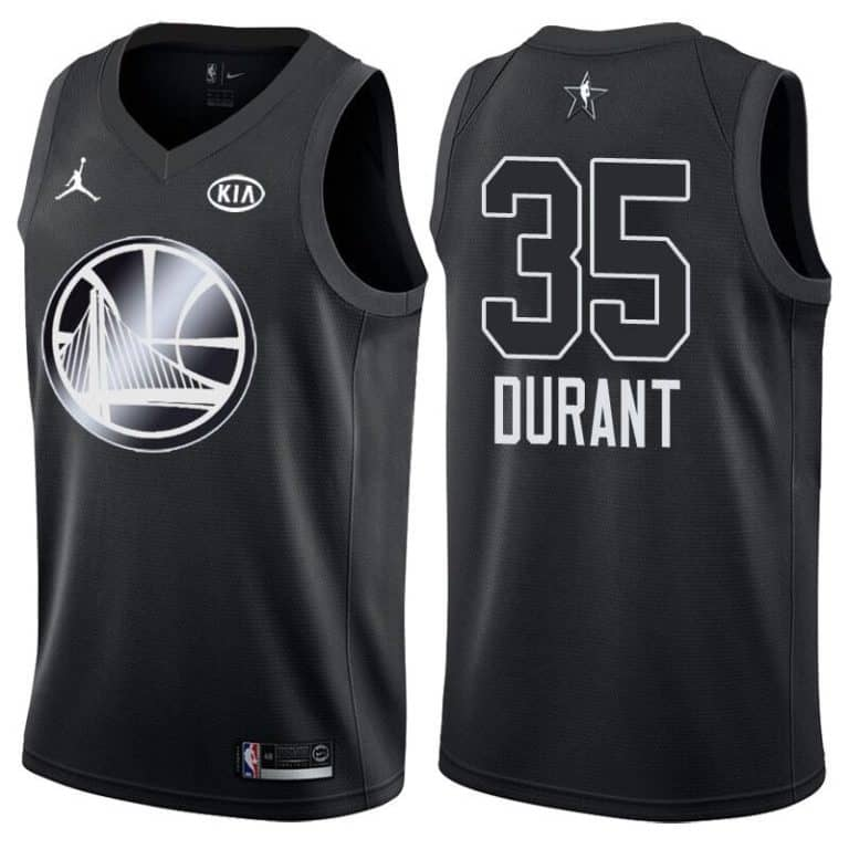 new product 39e64 57e8e Golden State Warriors Kevin Durant All-Star 2018 Black Jersey
