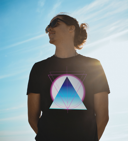 retro triangle geometric style colorful
