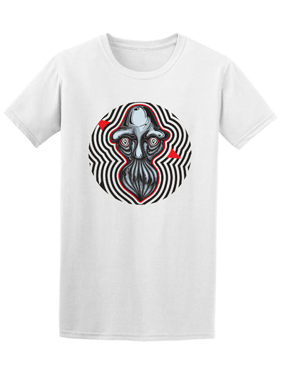 Psychedelic Old Man Face Graphic Tee - Image by Shutterstock