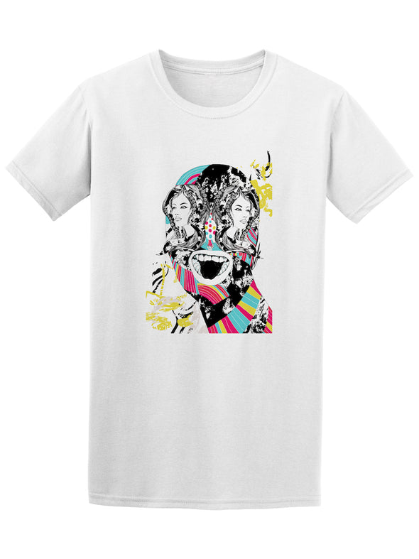 Psychedelic Art Abstract Girl Face Tee - Image by Shutterstock