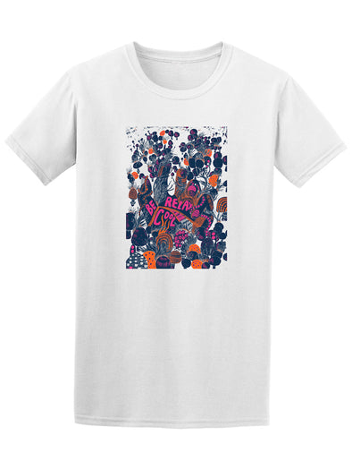 Relax Be Cool Psychedelic Poster Tee - Image by Shutterstock