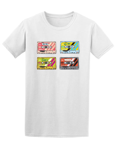 Retro Pop Art Audio Mix Tapes Tee Men's -Image by Shutterstock