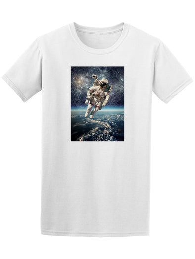 Astronaut In Outerspace Stars Tee Men's -Image by Shutterstock
