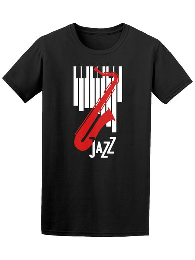 Jazz Sax And Piano Music Tee Men's -Image by Shutterstock
