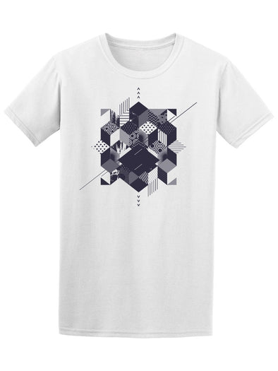 Abstract Geometric Squares Tee Men's -Image by Shutterstock
