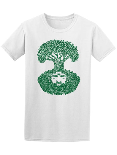 Bearded Man Tree Tee Men's -Image by Shutterstock