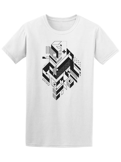 Abstract Futuristic Geometric Tee Men's -Image by Shutterstock