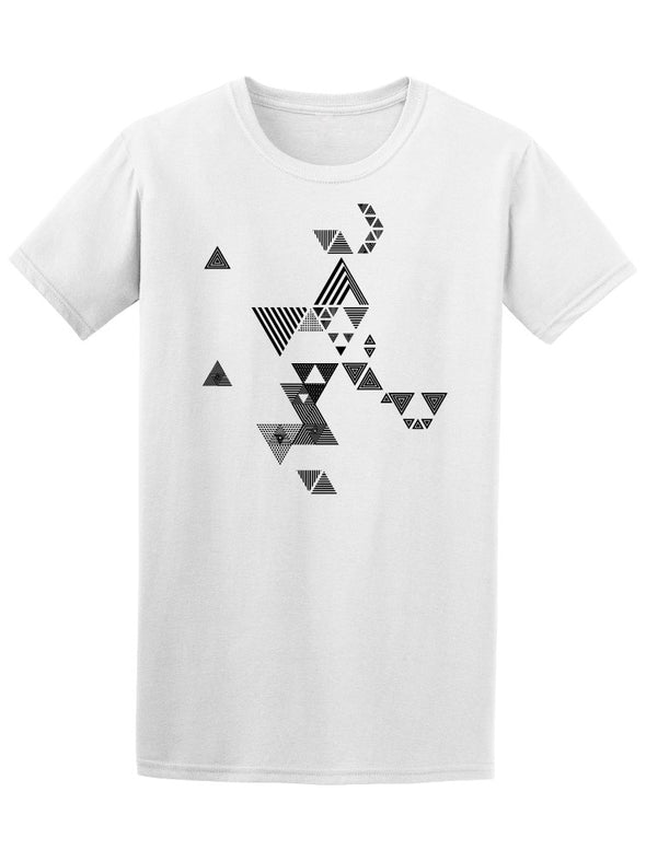 Hipster Triangles Zendoodle Tee Men's -Image by Shutterstock