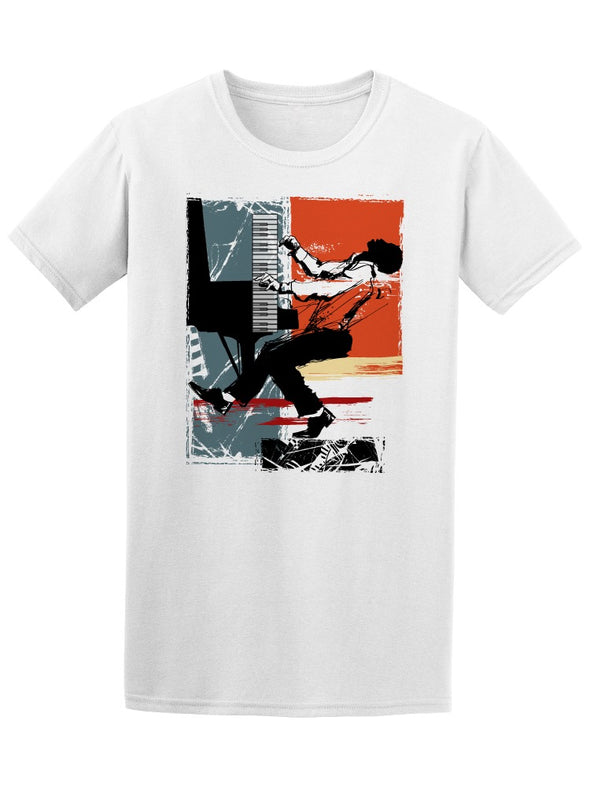 Jazz Pianist Music Tee Men's -Image by Shutterstock