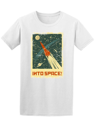 Into Space! Rocket At Galaxy Tee Men's -Image by Shutterstock