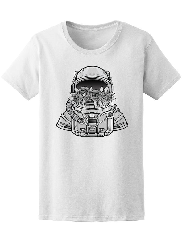 Astronaut Filled In Flowers Tee Women's -Image by Shutterstock